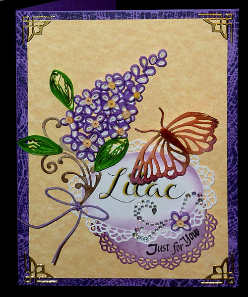 Misc Challenges Cards Mc May 12 Quill Lilac Just 4 U Card